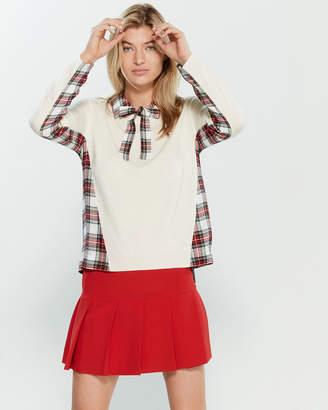 Moschino Overlay Plaid Sweater