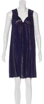 IRO Metallic Mini Dress