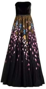 Basix II Black Label Handpainted Sleeveless Gown