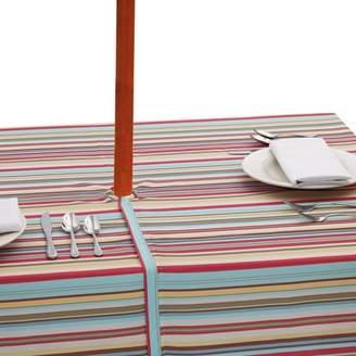Design Imports Stripe Umbrella Polyester Tablecloth