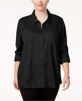 Style&Co. Style & Co Plus Size Roll-Tab Shirt, Created for Macy's