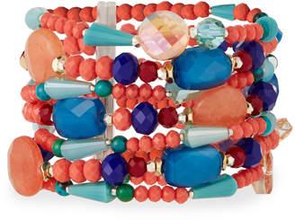 Nakamol Multicolor Beaded Stretch Bracelet
