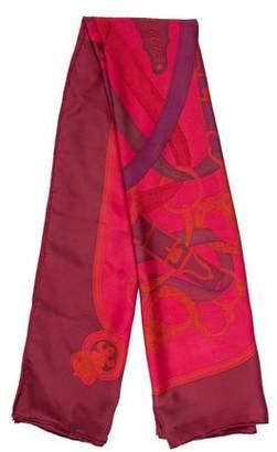 Hermes Cavalcadour Dip-Dye Silk Shawl