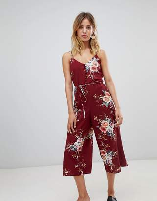 New Look floral culotte jumpsuit