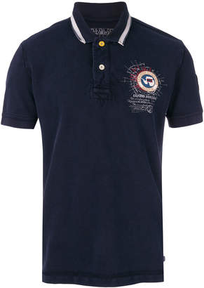 Napapijri logo patch polo shirt