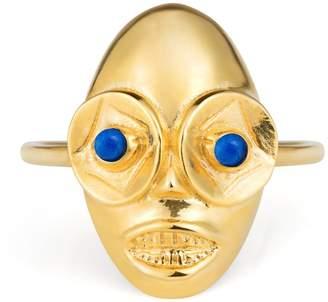 Lee Renee Voodoo Ghede Ring Gold & Lapis Lazuli