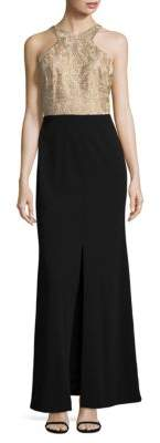 Calvin Klein Lace Column Gown