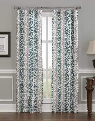 CHF 1Z41170GBL Damask Stripe Curtain Panel