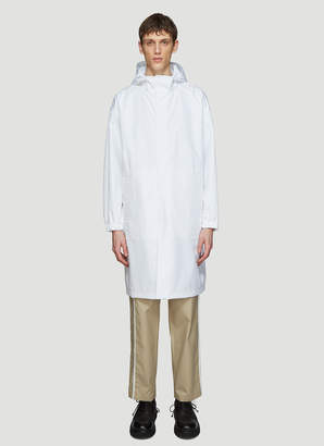 Helmut Lang By Parley For The Oceans Recycled Hooded Nylon Raincoat in White
