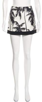 Fausto Puglisi Silk Abstract Print Mini Skirt