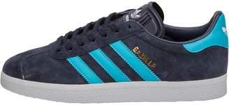 7dd99d0ee343 adidas Mens Gazelle Trainers Legend Ink Energy Blue Footwear White