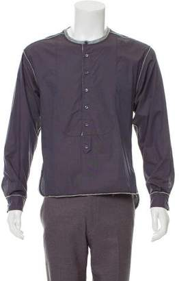 Dolce & Gabbana Crew Neck Button-Up Shirt