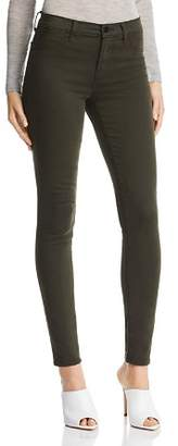 J Brand 485 Super Skinny Luxe Sateen Jeans in Ivy Vine