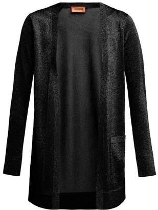 Missoni Metallic Longline Cardigan - Womens - Black