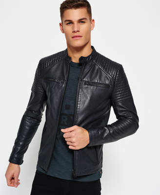 Superdry Leather Quilt Racer Jacket