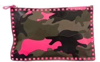 Valentino Camouflage Zip Pouch