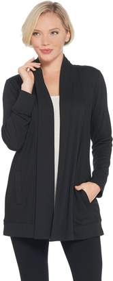 Denim & Co. Heavenly Jersey Long-Sleeve Open Front Cardigan