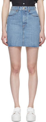 Rag & Bone Blue Denim Moss Miniskirt