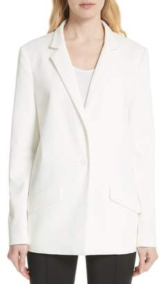 Tracy Reese Textured Stretch Cotton Blend Blazer