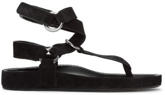 Isabel Marant Black Suede Loig Easy Chic Sandals