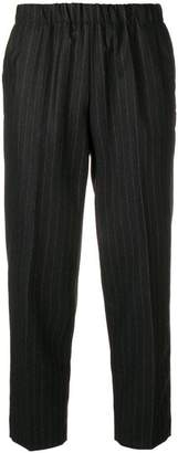 Kiltie pinstripe cropped trousers