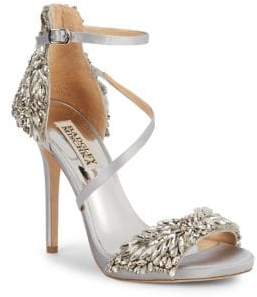 Badgley Mischka Selena Bejeweled Stiletto Sandals