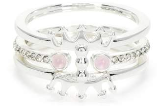 Juicy Couture Beaded Crown Luxe Wishes Ring