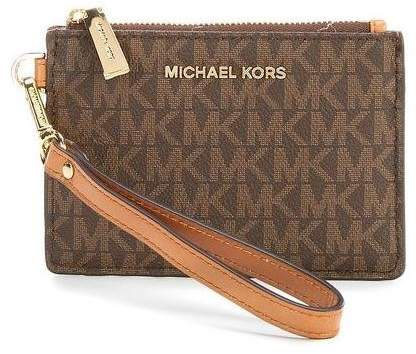 Michael Kors Mercer Logo Coin Purse - Brown - 32T7GM9P1V-200 - BROWN - STYLE