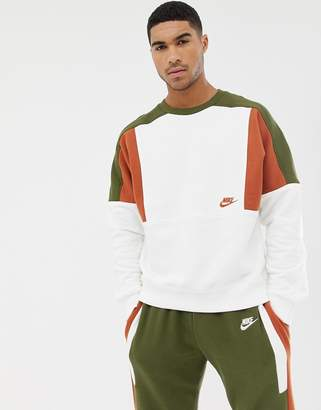 Nike Re-Issue Sweat In White AQ2061-133