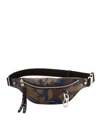 Alexander McQueen Harness Camo Leather Fanny Pack Bag