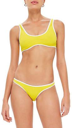 Topshop Contrast Bikini Top