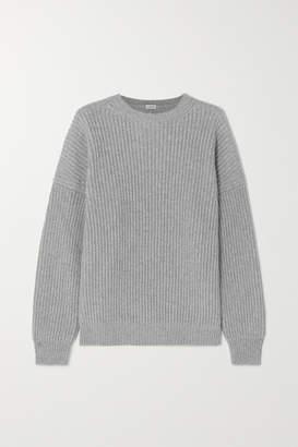 Loewe Oversized Ribbed Cashmere Sweater - Gray