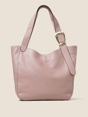 DKNY Pebbled Leather Buckle Hobo