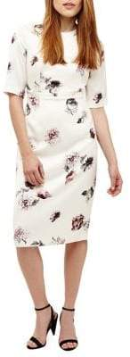 Phase Eight Olga Rose-Print Sheath Dress