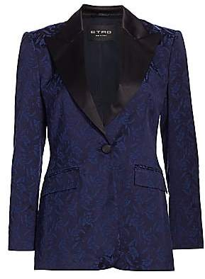 Etro Women's Jacquard Tonal Tuxedo Jacket
