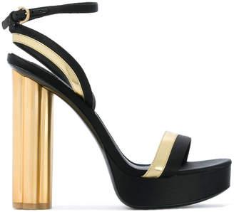 Salvatore Ferragamo flower heel sandals