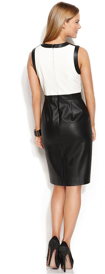 Vince Camuto Colorblock Faux-Leather Sheath