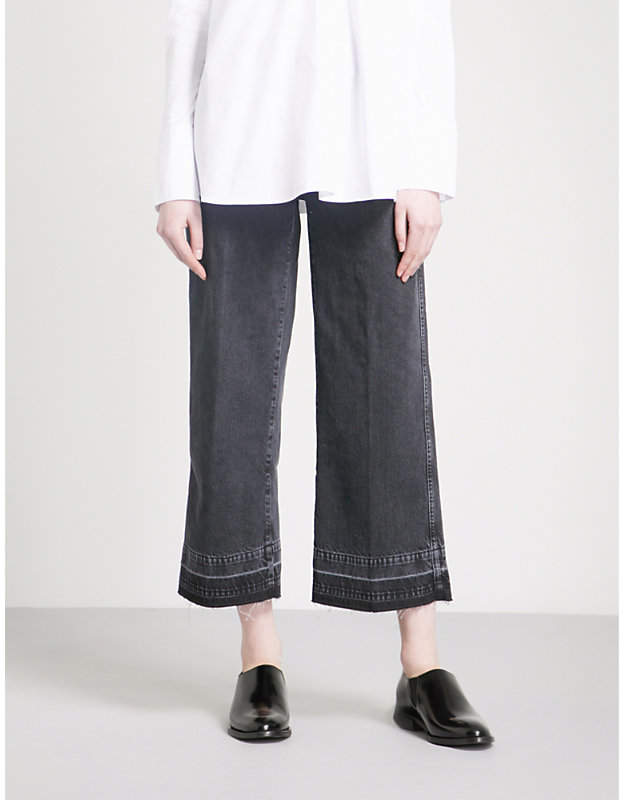 7 For All Mankind Marnie wide-leg cropped high-rise jeans