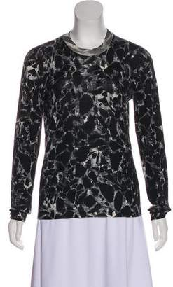 Balenciaga Abstract Print Virgin Wool Sweater