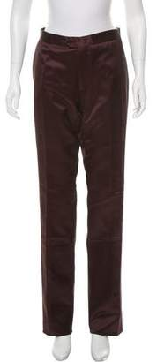 Yang Li Satin Mid-Rise Pants