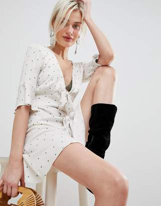 Free People All Yours Tie Waist Mini Dress