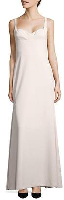 Vera Wang Women's Crepe A-Line Gown