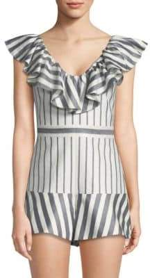 Alexis Tamiko Short Striped Jumpsuit