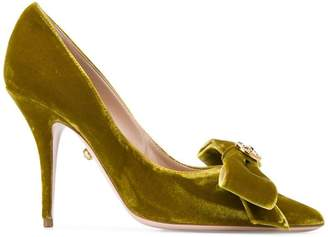Fausto Puglisi bow embellished pumps