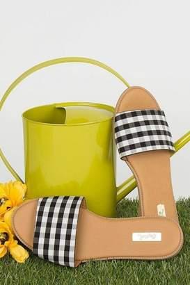 Qupid Checkered Gorgeous Sandals