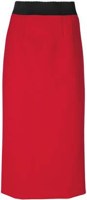 Alberta Ferretti elasticated waistband midi skirt