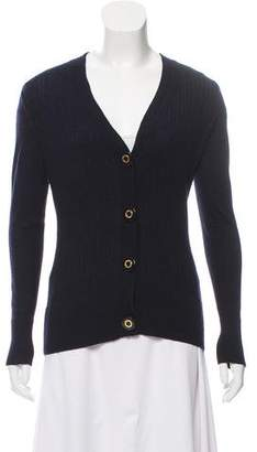 Tory Burch Wool Cable-Knit Cardigan