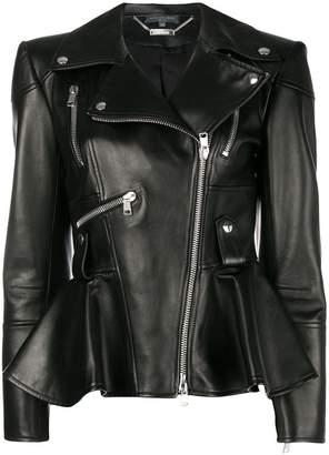 Alexander McQueen ruffled biker jacket