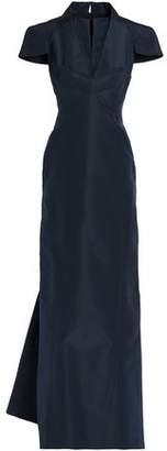 Zac Posen Layered Flared Silk-Faille Gown