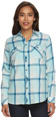 Women's Croft & Barrow® Plaid Flannel Shirt $36 thestylecure.com